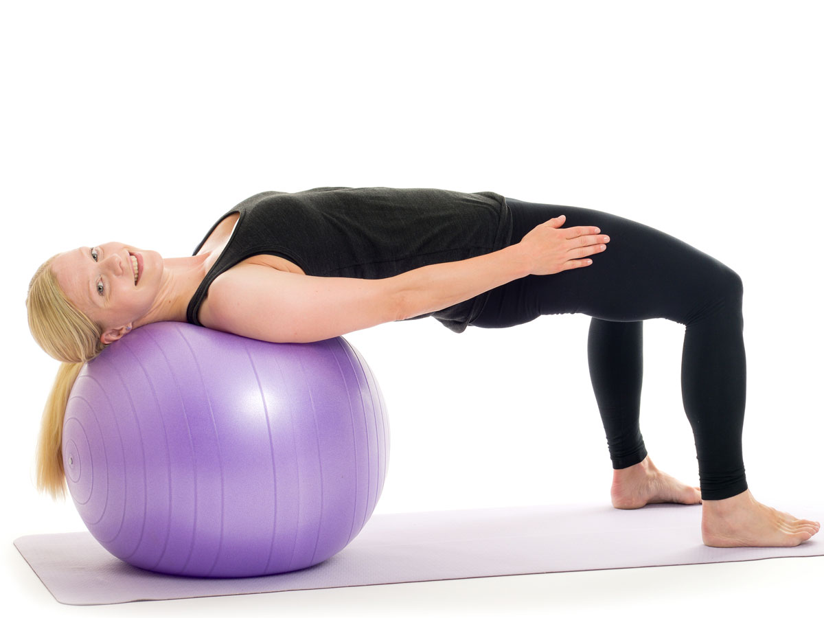 bridge pose on ball