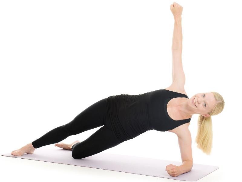 side plank position