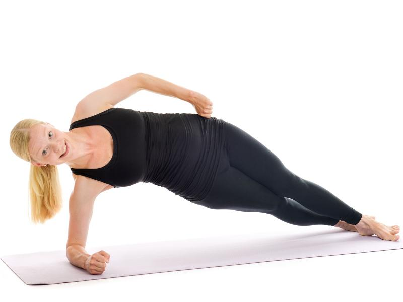 side plank position hip lift