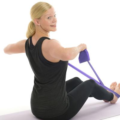 seated shoulder row exercise band