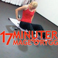 Poworkout 17 minuter Mage & Rygg logo