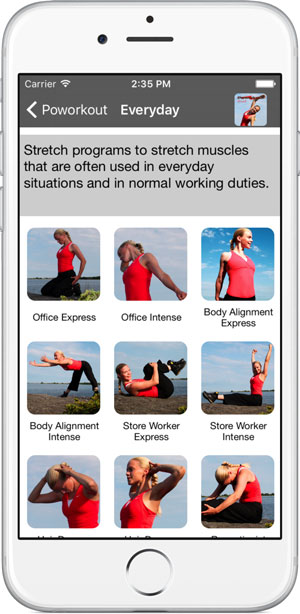 Poworkout Stretch Screenshot Category