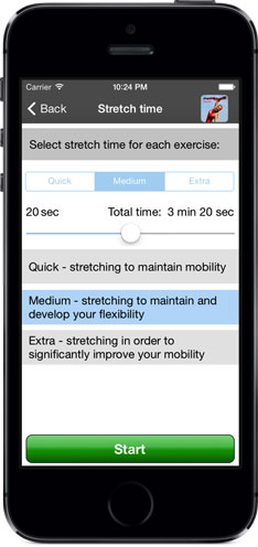 Poworkout Stretch Screenshot Configure