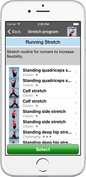 Poworkout Stretch Screenshot Progam