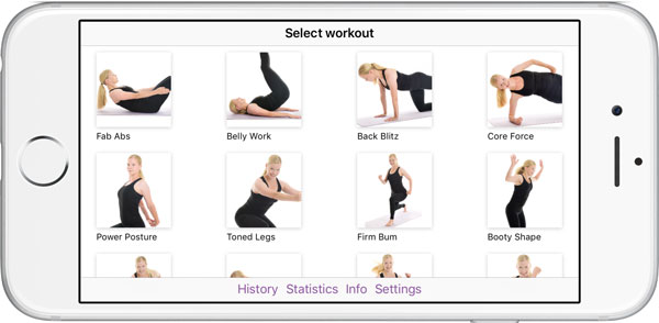 Poworkout Trim Tone Screenshot Start